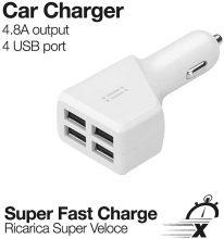 aiino – Caricatore da Auto 4 Porte USB 4.8A