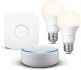 Echo Dot (3ª generazione) Altoparlante smart + Philips Hue White Starter Kit