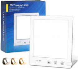 OxyLED Lampada Fototerapia con 3 Colori e Luminosità Regolabili
