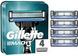 Gillette, Mach 3, Set di lame di ricambio per rasoio, 4 pz.