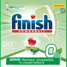 Finish Powerball All in One 0% Detergente per lavastoviglie – 60 pastiglie