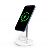 Lecone Magnetico Caricatore Wireless MagSafe 2 in 1 Stand 15W Compatibile con iPhone - 73LMS01P-W