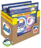 Dash All in 1 Pods Detersivo Lavatrice in Capsule, 108 Lavaggi (2 x 54) – Primavera