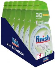 Finish Powergel, Gel Detersivo per Lavastoviglie Liquido – Multiazione – 210 Lavaggi