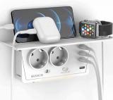 GUUKIN Multipresa con USB, con 2 Presa e 4 Porte di Ricarica Condivisa