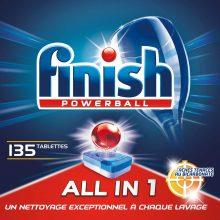 Finish Powerball Tutto in 1 Max Detersivo per lavastoviglie e macchie – Confezione da 3 x 45 pastiglie