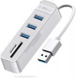 ORICO 3 porte USB 3.0 Hub USB 3.0 + lettore di schede SD/TF