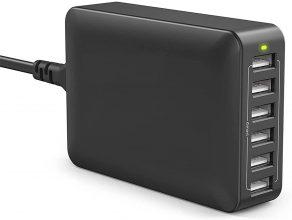 FM-028B Caricatore da 60W / 12A con 6 Porte USB