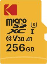 Kodak – Scheda di memoria Micro SD da 256 GB, UHS-I U3 V30 A1