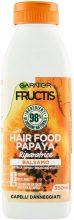 Garnier Balsamo Riparatore Fructis Hair Food, Balsamo riparatore alla papaya per capelli danneggiati, , 350 ml