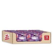 Wc Net Tavoletta Profumoso 3 Effect, Detergente Igienizzante Solido per WC, Fragranza Lavender Fresh, 4 Pezzi x 12 Confezioni