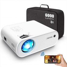 TOPTRO X2 Mini Proiettore Portatile 6000 Lumen con Supporto HD 1080P