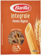 Barilla Pasta Penne Rigate Integrali, Pasta Corta di Semola Integrale di Grano Duro – 500 g