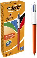 BIC 889971 Penna Ricaricabile a Sfera con 4 Colori di Inchiostro , Arancione