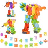 TUNJILOOL Giocattoli Robotici Dinosauro e Robot Trasformabile