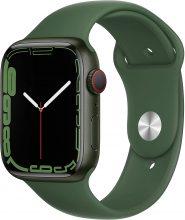 Apple Watch Series 7 (GPS + Cellular) Cassa 45 mm in alluminio verde con Cinturino Sport color trifoglio – Regular