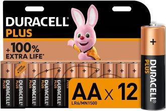 Duracell – NUOVO Plus AA, Batterie Stilo Alcaline, confezione da 12