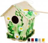 Robotime 3D Jigsaw Puzzle in Legno – Bird House con la Pittura