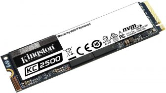 Kingston KC2500 NVMe PCIe SSD – SKC2500M8/500G M.2 2280