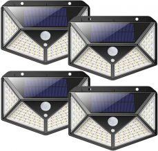 nuosife Luce Solare LED Esterno, 4 psc