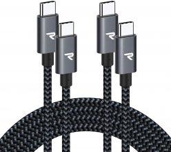 RAMPOW Cavo USB C a USB C [20V/3A 60W]  – 2M /2 Pezzi – RAD10-IT