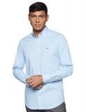 Tommy Hilfiger Core Stretch Slim Poplin Shirt Camicia Uomo – Blu