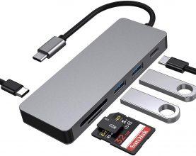 BYTTRON Hub USB C,Hub Portatile 6 in 1 con USB 3.0,