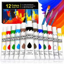 Buluri Kit di 12 Colori Acrilici