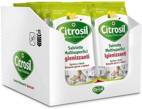 Citrosil Home Protection, Salviette Multisuperfici Igienizzanti, 40 Panni x 12 pezzi