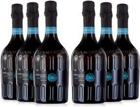 SAN MARTINO VINI Prosecco DOC Treviso Mill Extra Dry 2019/2020, Confezione 6 Bottiglie