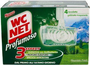Wc Net Tavoletta Profumoso 3 Effect, Fragranza Mountain Fresh, 4 Pezzi x 12 Confezioni
