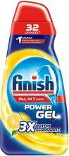Finish Powergel, Gel Detersivo per Lavastoviglie Liquido, Multiazione, Limone Sgrassante, 32 Lavaggi
