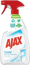 Ajax Detersivo Crystal Clean per Vetri, Con Ammoniaca – 750 ml