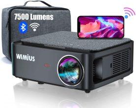 WiMiUS K1 Videoproiettore WiFi Bluetooth,7500 Lumen