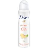 Dove Deo Spray Go Fresh Profumo pesca e limone-verbena, 0% sali di alluminio, (6 X 150 ml)