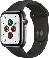 Apple Watch Series 5 (GPS + Cellular, 44 mm) Cassa in Acciaio Inossidabile e Cinturino Sport