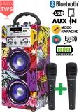 DYNASONIC 025 – Altoparlante Bluetooth con modalità Karaoke 10w