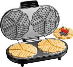 AICOOK Piastra Per Waffle Doppia 1200W