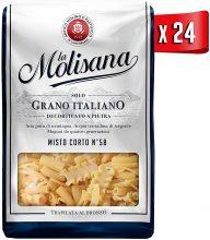 La Molisana, Misto Corto n.58 Pasta Corta, SOLO Grano Italiano – 24 confezioni da 500g (tot 12kg)