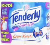 Tenderly – Gran Rotolo, Carta Igienica Tripla Morbidezza, 4 rotoli