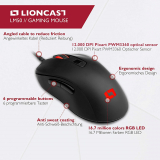Lioncast LM50 E-Sports Mouse da Gioco per PC