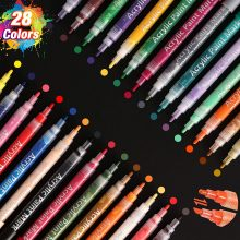 SAWAKE Pennarelli Acrilici, 28 Colori Impermeabile