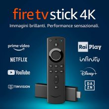 Fire TV Stick 4K Ultra HD Certificata con telecomando vocale Alexa
