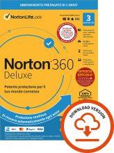 Norton 360 Deluxe 2021, Antivirus per 3 Dispositivi, Licenza di 1 anno