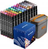Set di 60 pennarelli grafici a colori, EooUooIP