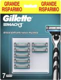 Gillette Mach3 Lamette per Rasoio da Uomo, 7 Pezzi