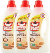 Omino Bianco – Detersivo Lavatrice Liquido, Fresco Profumo con Essenza Cuore di Marsiglia , 1500 ml x 3 Confezioni