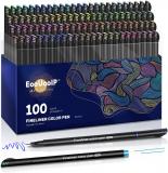 Penne Fineliner da 0,4 mm, EooUooIP 100 colori
