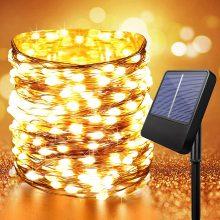 Anpro Luci Esterno Energia Solare, 10m*100 LED