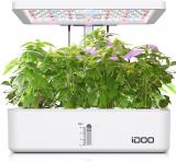iDOO Coltivazione Indoor con Sistema Automatico di Illuminazione LED, Giardino Intelligente con 12 baccelli